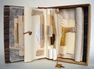 "A Good Old Book, Susan Rotolo, 1998, 9"" x 7.5"" x 1.25"" closed"